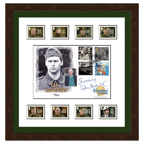 Dads Army Framed Celebration Cover Personally Signed by Ian Lavender No Colour