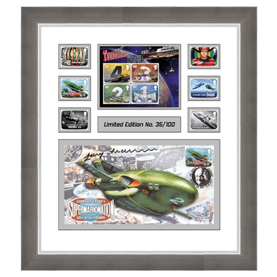 Thunderbirds Stingray Framed Set of 3 Covers Personally Signed by Gerry Anderson