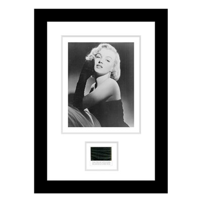 Marilyn Monroe Framed Photo & Original Swatch of Material from One of her Dresses