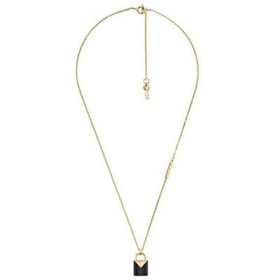 Michael Kors Colour Gold Plated Padlock Necklace