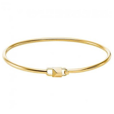 Michael Kors Gold Plated Padlock Bangle