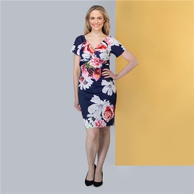 Nicole Floral Scuba Dress