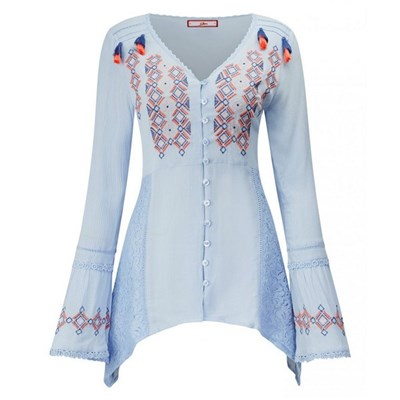 Joe Browns Crinkle Embroidered Blouse