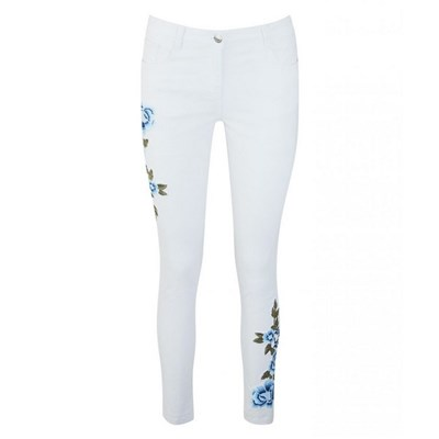 Joe Browns Embroidered White Jeans