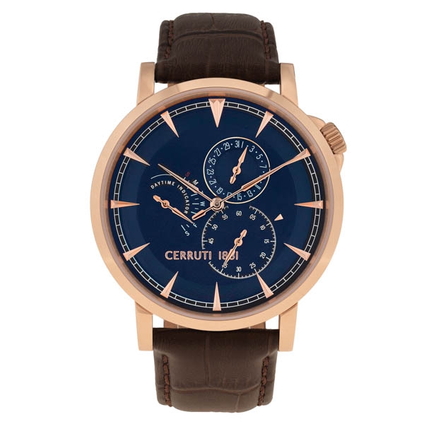 Cerruti 1881 Gent's Caiano Watch with Leather Strap Blue