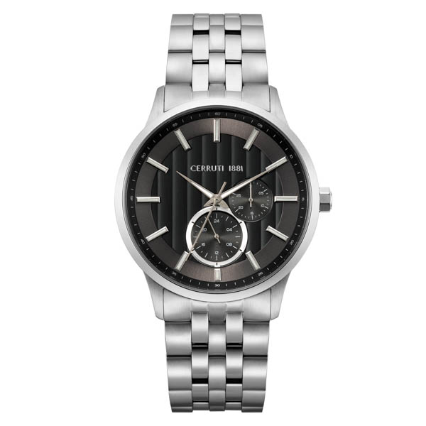 Cerruti 1881 Gent's Carzano Watch with Stainless Steel Bracelet Black