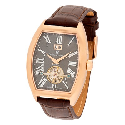 Constantin Weisz Gent's Ltd Edt (to 300pcs) Automatic Open Watch with Genuine Leather Strap