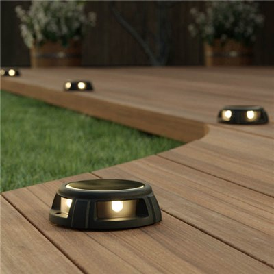 Warm White Tap Dance Solar Decking Lights (Pair)