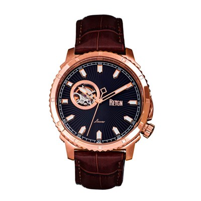 Reign Gent's Bauer Automatic Watch with Genuine Leather Strap