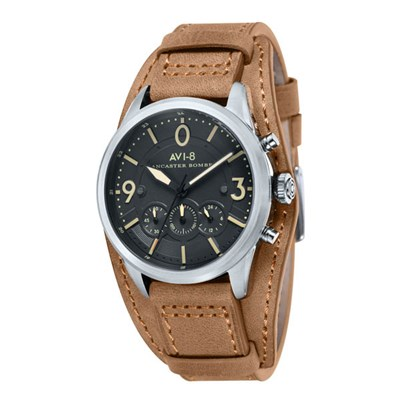 Avi-8 Gent's Lancaster Bomber Watch with Genuine Leather Strap