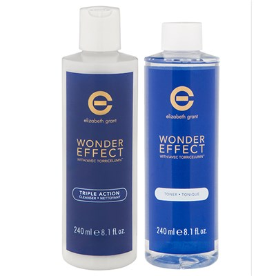 Elizabeth Grant Wonder Effect Supersize Triple Action Cleanser 240ml and Toner 240ml
