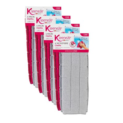 Kleeneze Microfibre Cloths Pack of 4 X 4 Packs (16 Cloths)