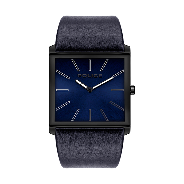 Police Gent's Skyline Watch with Genuine Leather Strap Blue