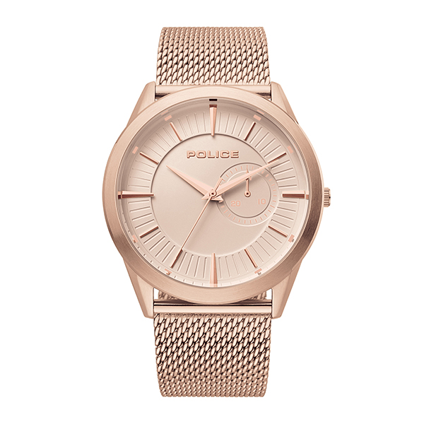 Police Gent's Helder Watch with Milanese Bracelet Rose Gold