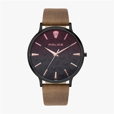 Police Gent's Tasman Watch with Genuine Leather Strap