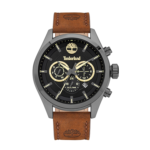 Timberland Gent's Ashmont Chronograph Watch with Genuine Leather Strap Black
