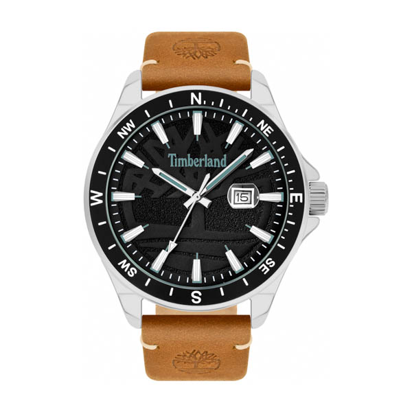 Timberland Gent's Swampscott Watch with Genuine Leather Strap Black