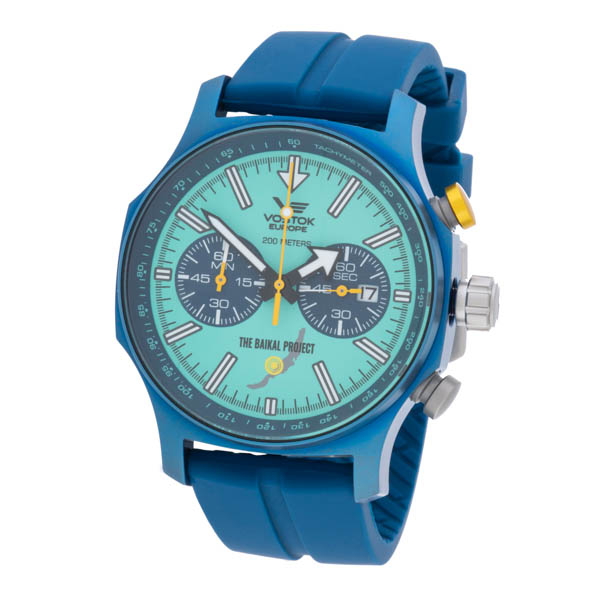 Vostok Europe Gents Expedition N1 Ltd Ed Baikel Project Chronograph Watch with Dry Box Turquoise