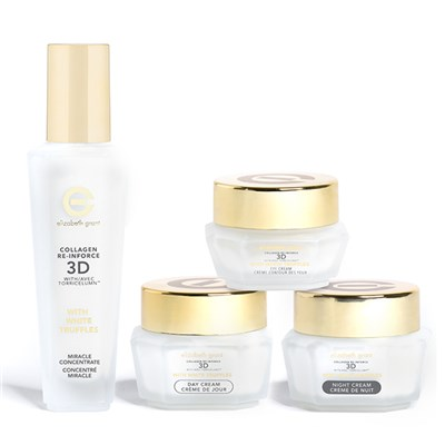 Elizabeth Grant Collagen Re-Inforce 3D w/White Truffles 4pc Kit (Day, Night, Eye, Concentrate)