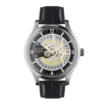 CCCP Gents Sputnik-2 Automatic Watch with Genuine Leather Strap