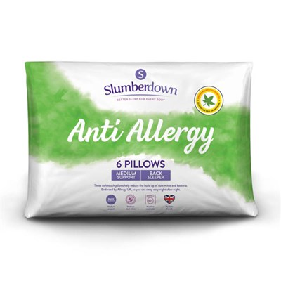 Slumberdown Anti-Allergy Medium Support Pillow (6 Pack)