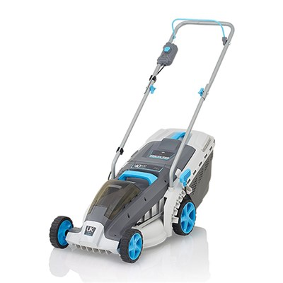 Swift 37cm 40v Wide Cordless Electric Lawnmower with Battery and Charger - EB137CD2