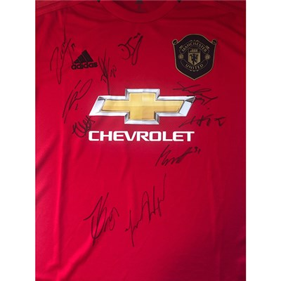 Manchester United FC Multi Signed Football Shirt
