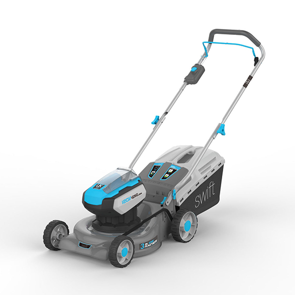 Swift 42cm 120v Wide Cordless Electric Lawnmower with Battery and Charger – EA1422 No Colour