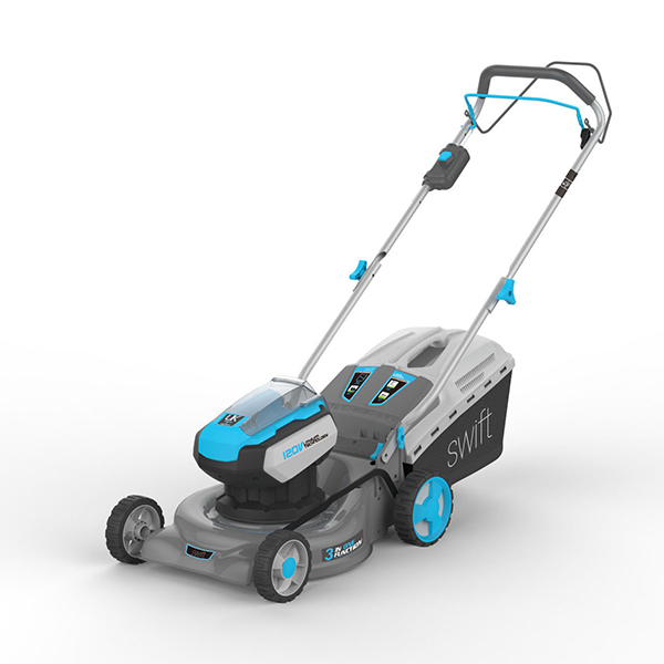 Swift 42cm 120v Wide+ Cordless Electric Lawnmower with Battery and Charger EA142V2 No Colour