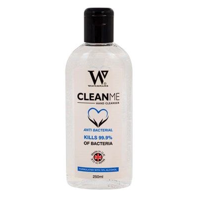 Watermans Clean Me Hand Sanitiser 70% Alcohol 250ml