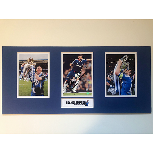 Chelsea Framed Triple Photo Montage Personally Signed by Frank Lampard No Colour