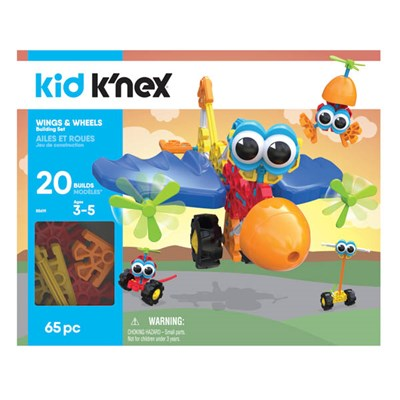 Kid KNEX Wings and Wheels Building Set