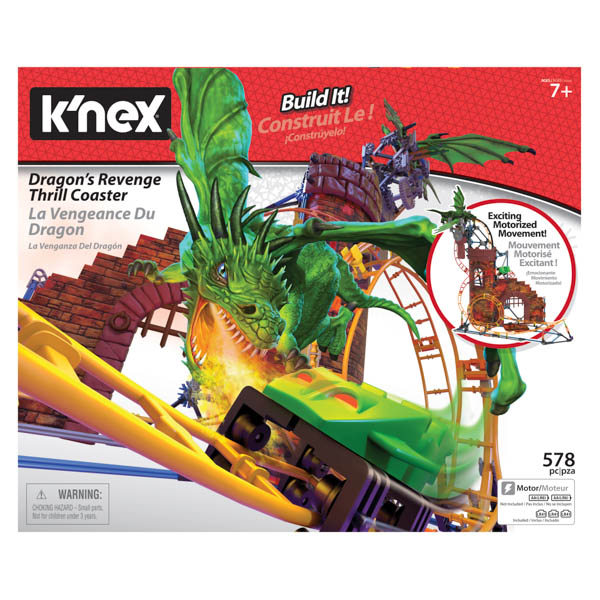 KNEX Dragons Revenge Roller Coaster Building Set No Colour