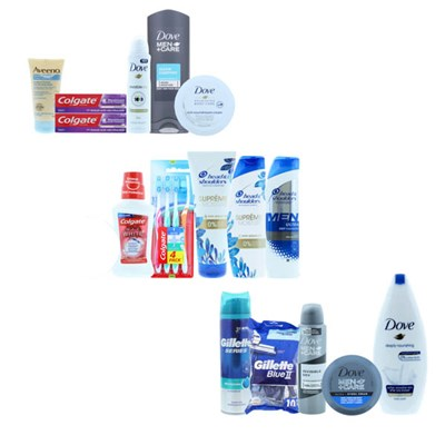 Essentials Branded 16pcs Ladies and Gents Toiletries Bundle