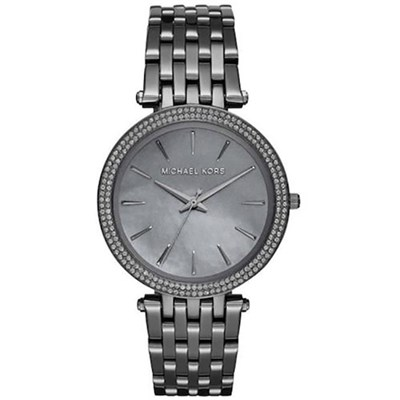 Michael Kors Ladies Grey Mother of Pearl