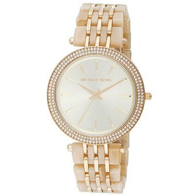 Michael Kors Ladies Gold Watch with Stainless Steel Bracelet