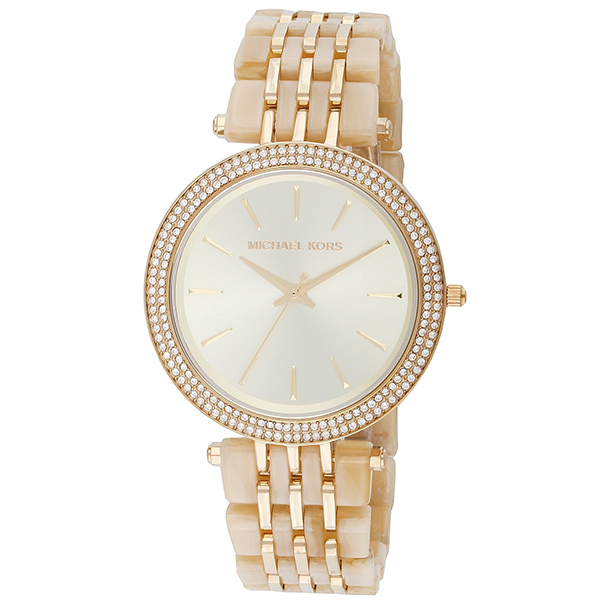 Michael Kors Ladies Gold Watch with Stainless Steel Bracelet No Colour