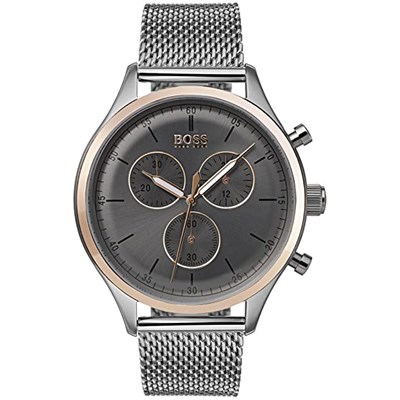 Hugo Boss Gents Companion Chronograph Watch with Milanese Bracelet