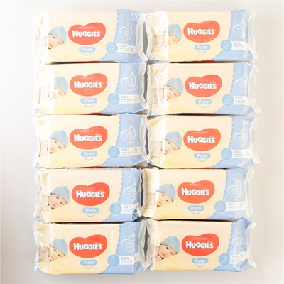 Huggies Babywipes 56 Wipes per Pack x 10 Packs