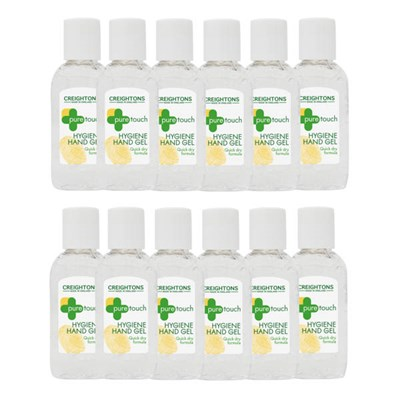 Creightons Pure Touch Hygiene Hand Gel Quick Dry Formula 50ml x 12