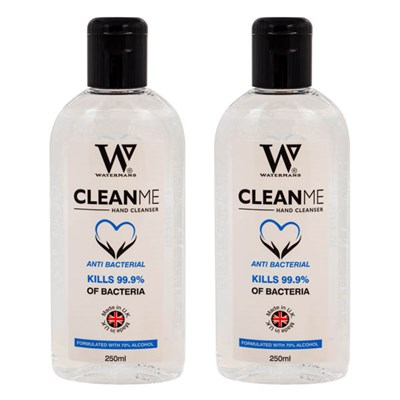 Watermans Clean Me Hand Sanitiser 70% Alcohol 250ml (Twinpack)