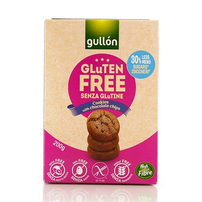 Gullon Gluten-Free Double-Choc-Chip Cookies 200g x 12 Boxes