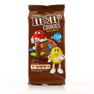 M&M's Double Chocolate Cookies - 144g x 8 Packs