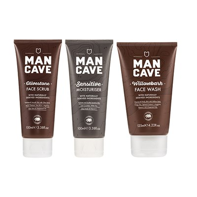 Mancave Face Bundle ( Wash 125ml, Scrub