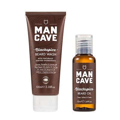 Mancave Beard Bundle ( Wash 100ml, Oil 5