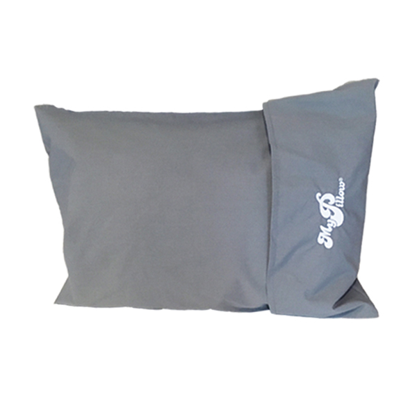 MyPillow Roll and GoAnywhere with Pillow Case and 60-Day Money-Back Guarantee Frosted Gray