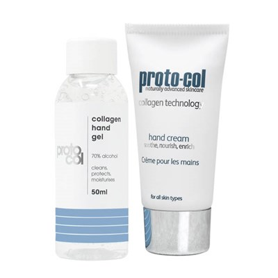 Proto-col Collagen Hand Cream 40ml with Hand Gel 50ml