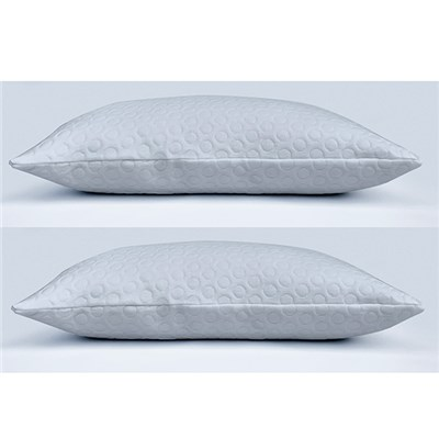 Downland Premium Memory Foam Pillow Pair with Jacquard Air Layer Cover