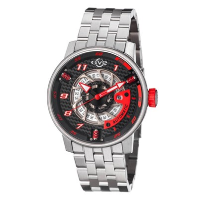 GV2 Gent's Motorcycle Ltd Ed Swiss Automatic Ruben & Sons Watch with Stainless Steel Bracelet
