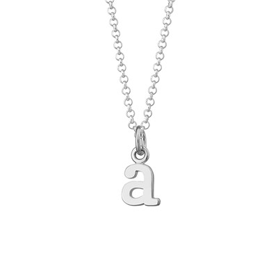 Lily Charmed Sterling Silver Initial Charm Necklace